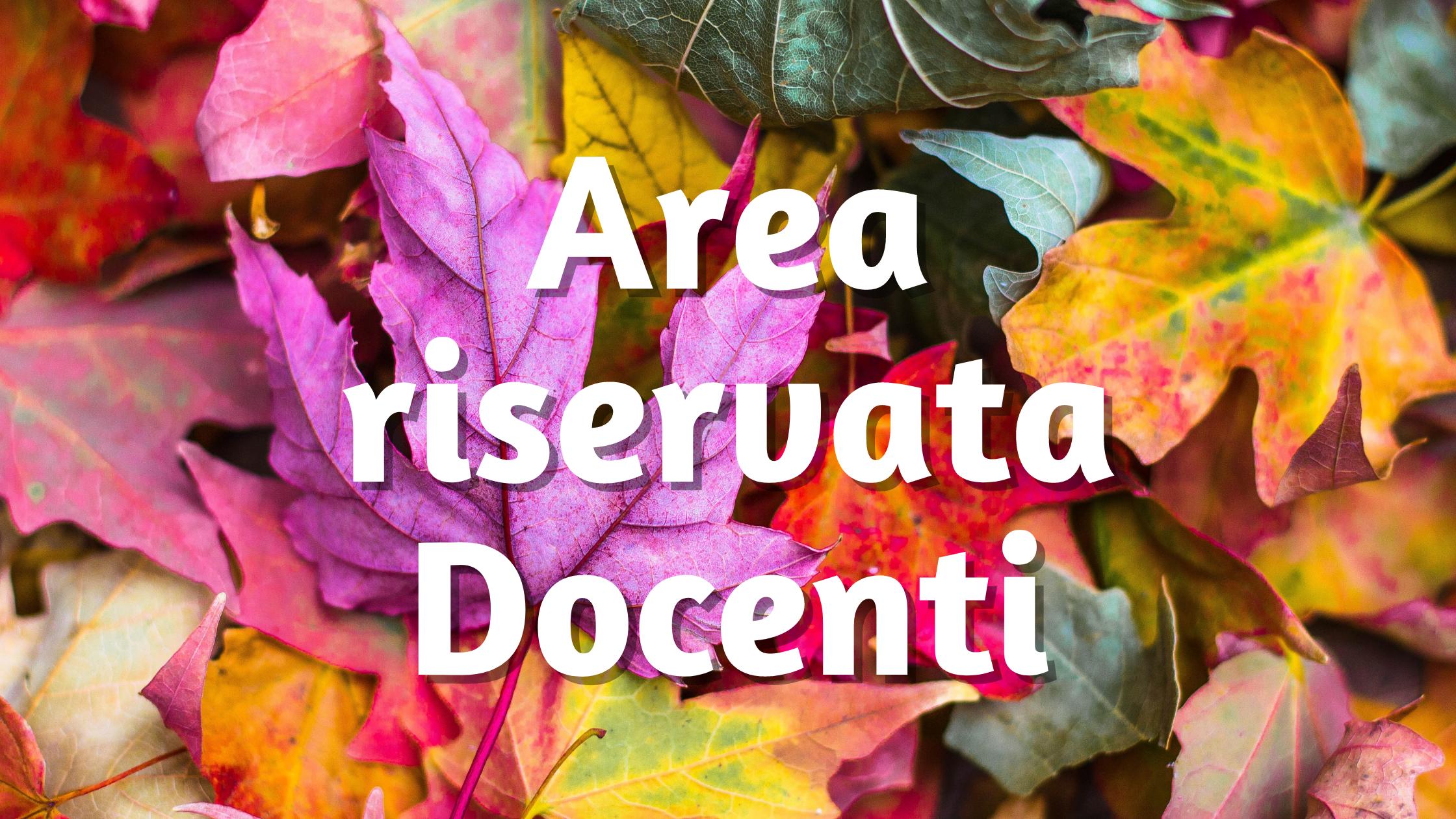 Area riservata Docenti